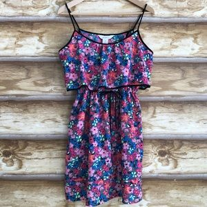 Candie's floral open back strappy dress size M